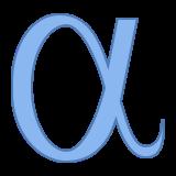 alpha icon