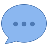 speech bubble-with-dots icon