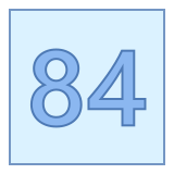 84 icon