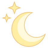 Luna brillante icon