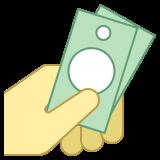Argent liquide en main icon