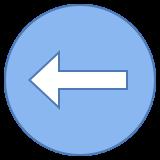 Izquierda círculo icon