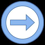 Flèche droite icon