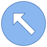 Circled Up Left icon