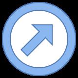 Flèche haut droite icon