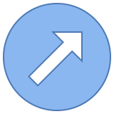 Circled Up Right icon