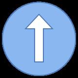 Стрелка вверх в круге icon