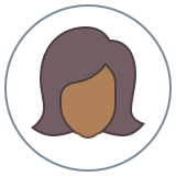 Circled User Female Skin Type 6 icon