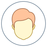 Circled User Male Skin Type 1 2 icon