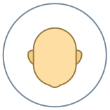 Circled User Neutral Skin Type 3 icon