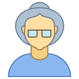 Person Old Female Skin Type 3 icon