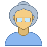 Person Old Female Skin Type 4 icon