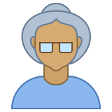 Person Old Female Skin Type 5 icon
