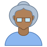 Person Old Female Skin Type 6 icon