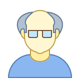 Person Old Male Skin Type 1 and 2 icon