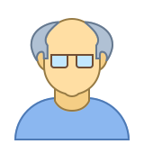 Person Old Male Skin Type 3 icon