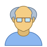 Person Old Male Skin Type 4 icon