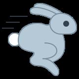 Lapin qui court icon