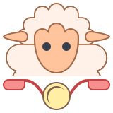 Sheep on Bike icon