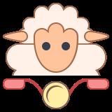 Mouton sur un vélo icon