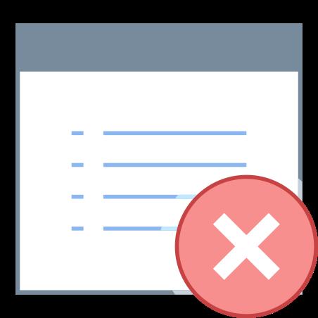 Delete Document icon