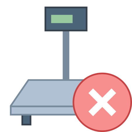 Industrial Scales Disconnected icon