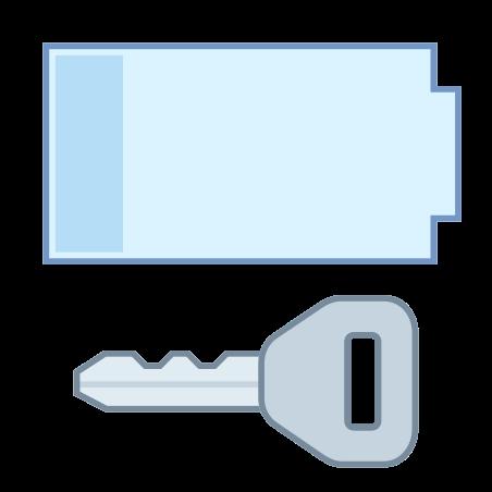 Porte-clé batterie faible icon