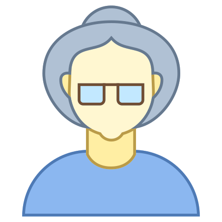 Person Old Female Skin Type 1 and 2 icon