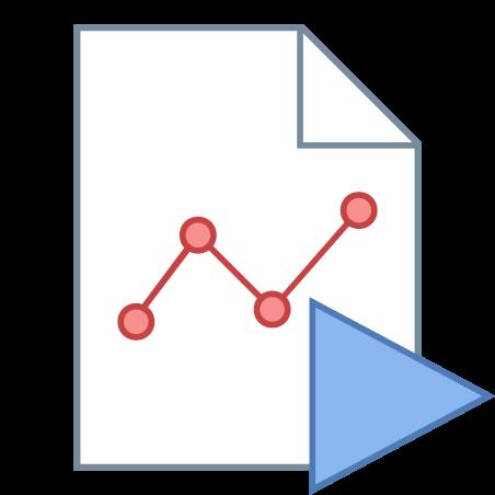 재생 그래프 보고서 icon
