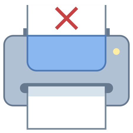 Printer Out of Paper icon in Office L