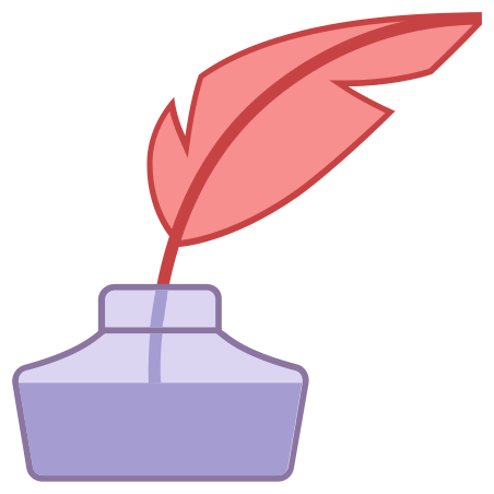 Quill With Ink icon in Office L