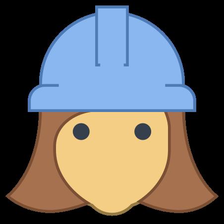Female Worker icon in Office L