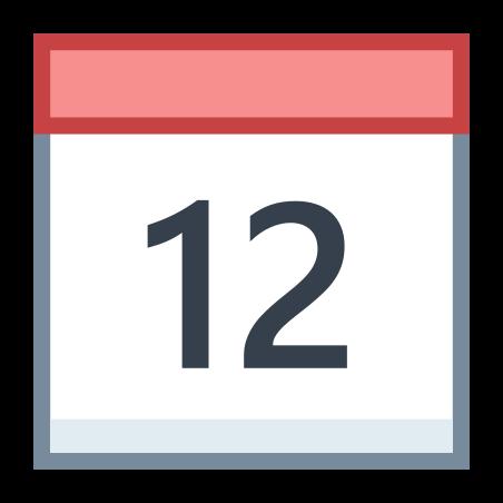 Calendar 12 icon