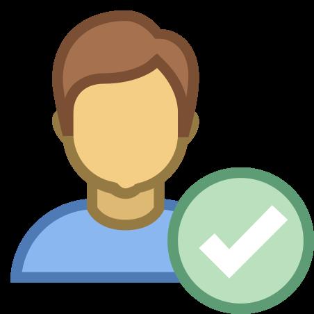 검사 사용자 남성 icon
