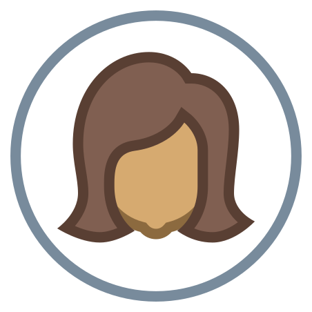 Circled User Female Skin Type 5 icon in Office S