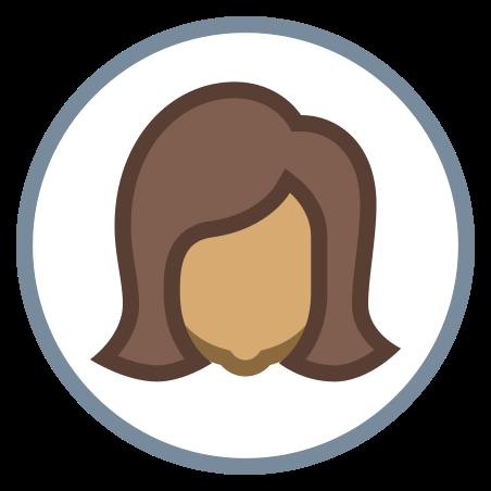 Circled User Female Skin Type 5 icon