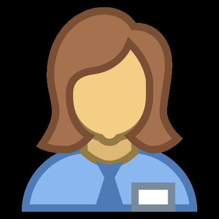 Collaborator Female icon in Office S