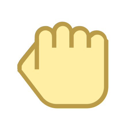 Hand Rock icon in Office S