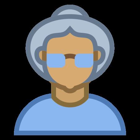 Person Old Female Skin Type 5 icon