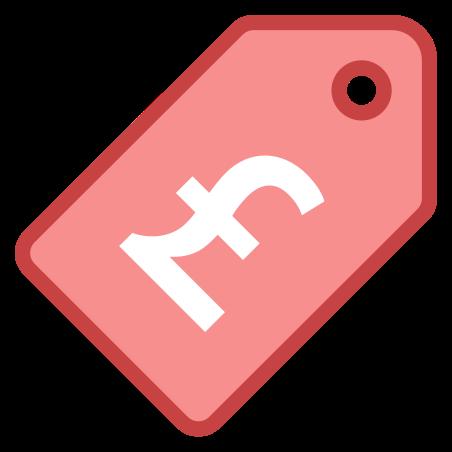 가격 태그 파운드 icon in Office S