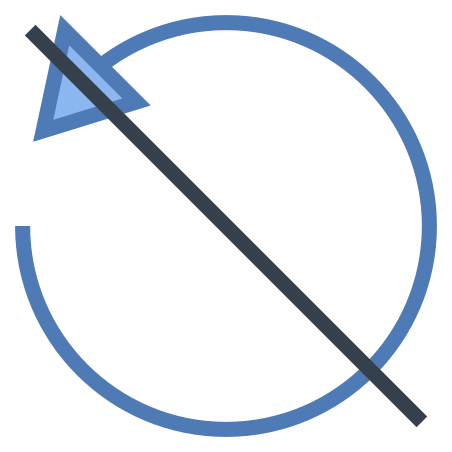 No Rotate Left icon