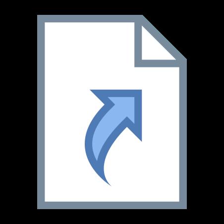 シンボリック リンク ファイル icon