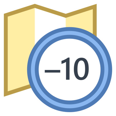 Timezone -10 icon in Office S