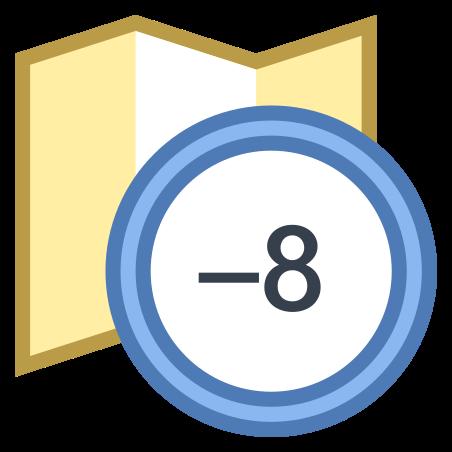 Timezone -8 icon