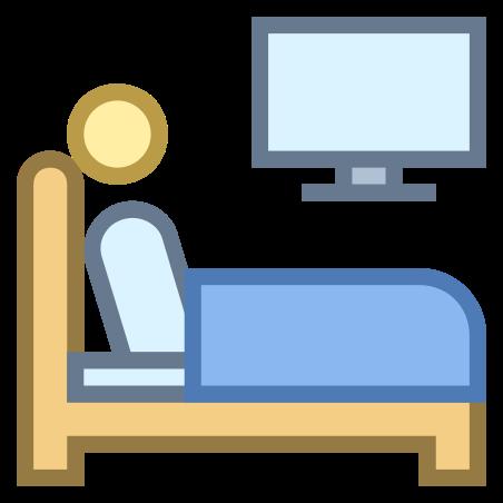 在床上观看电视 icon