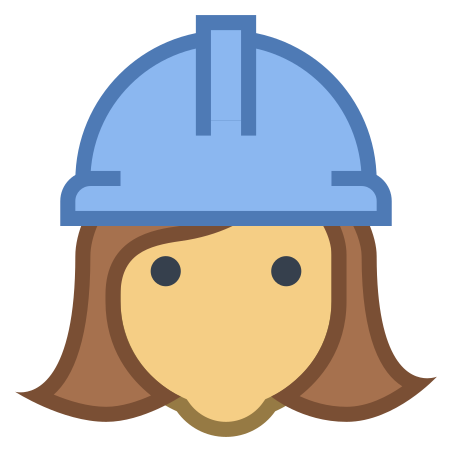 Female Worker icon in Office S