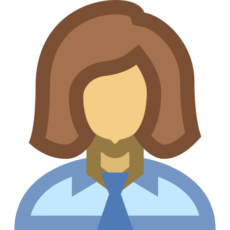 Woman Profile icon in Office XS