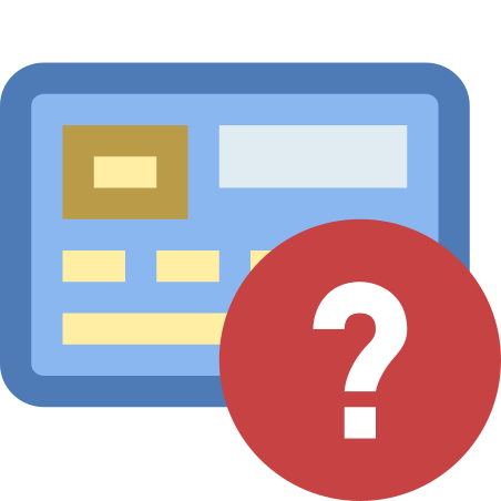 Bank Card Missing icon