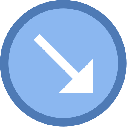 Circled Down Right icon