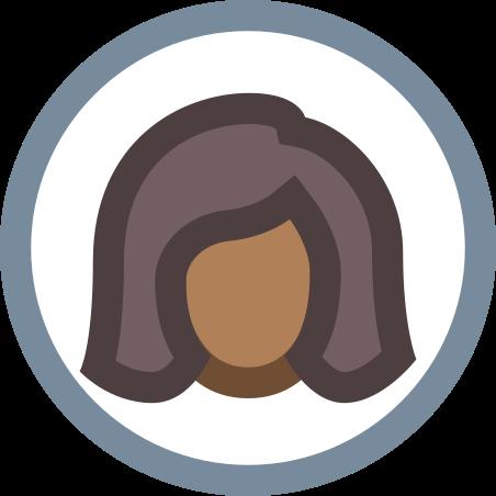 Circled User Female Skin Type 6 icon